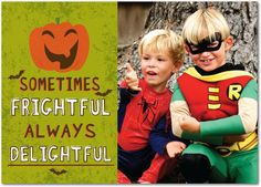 Fright and Delight - Halloween Cards from Treat.com #trickorTREAT