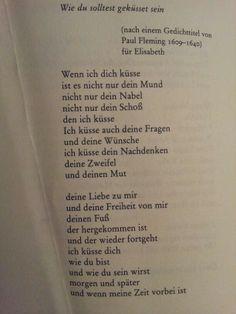 """""""Wie du solltest geküsst sein"""" by Erich Fried #poem #german"""