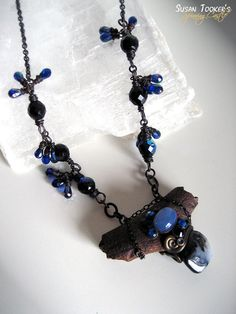 MYSTIC MERLIN - Deer Antler Fossil Merlinite Amulet Necklace by Susan Tooker of Spinning Castle.