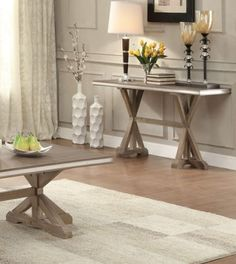 Beaugrand Contemporary Wood Sofa Table