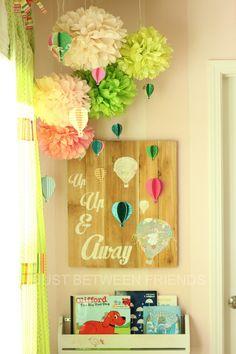 Hot air balloon wall art ...up, up and away!