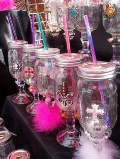 """Awsome Mason Jar wine glasses by """"Two Sippin' Sisters"""" !"""