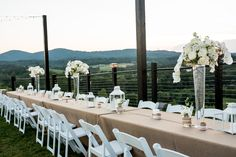 Engagement party on the patio at Blue Valley Vineyard and Winery in Delaplane, VA  Photo by Megan Rei Photography