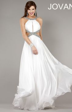 6922dd1eda A-line Chiffon Scoop Empire Floor-Length Criss Cross Back Sleeveless Beading  Cut Out Evening Dress