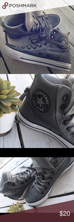 9323df44c12 Shop Women s Converse Gray Black size 7 Shoes at a discounted price at  Poshmark. Description  Converse Hi-Top Chuck Taylor Sneakers🎈SIZE 7    Gently used