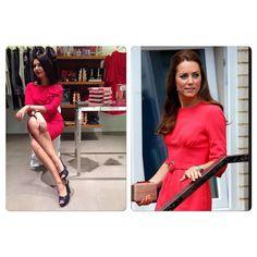 #ElisaDOspina Elisa D'Ospina: Ormai #Kate è una di noi;) Oggi il sabato è in #rosso #red #royalhouse #fashion #curvy #skinny #elegant #uk #London