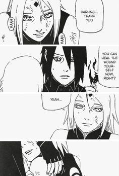 Gosh, look how worried he looks here.it's so sweet! I love it when Sasuke shows concern for Sakura Sakura E Sasuke, Sasuke Uchiha, Naruto Gaiden, Manga Anime, Fandoms, Movie Posters, Fictional Characters, Ss, Sweet