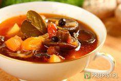 Zupa grzybowa ze świeżych grzybów - przepis z portalu przepisy.pl