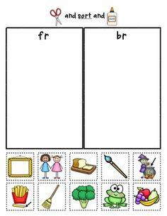 R-Blends Sorts {Phonemic Awareness Sorting Series, Set Kindergarten Language Arts, Teaching Language Arts, Kindergarten Literacy, Speech And Language, Phonics Activities, Language Activities, Classroom Activities, First Grade Phonics, First Grade Reading