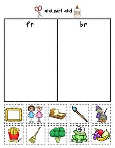 Sample Page:  R-Blends Sorts {Phonemic Awareness Sorting Series, Set #5} Help students practice their beginning r-blends with these sorting sheets... perfect for homework, small group remediation, literacy centers, or morning work. $