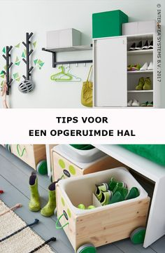 Een goede indruk van je woning begint bij een opgeruimde inkomhal! kids in huis? Maak het jezelf gemakkelijk opbergbakken op wielen voor het speelgoed en geef je kinderen een wandhanger voor hun spulletjes. FLISAT Speelgoedopberger, 24,99/st. #IKEABE #IKEAidee  A good impression of your home starts with a tidy entrance! Do you have kids running around? Make it as simple as possible with a few storage boxes on wheels for their toys. FLISAT Toy storage with castors, 24,99/pce. #IKEABE…