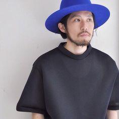 house of 950 mesh Tshirt.#nidtokyo #houseof950 #etudes : @nid_tokyo #style #blue #hat #fashion #design #clothing #mensfashion #shirt #black #designer #instagood #instalove #model #fab
