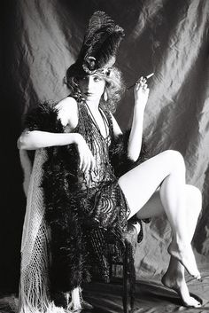 flapper... the halloween costumes have influenced me as a grownup :)