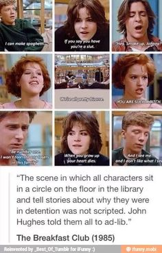 That's why it was so good! The whole movie was
