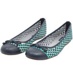 Sapatilha tressê azul e verde