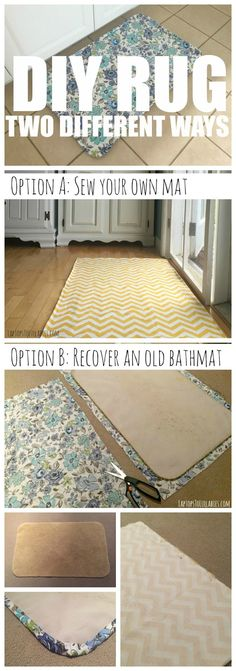 Laptops to Lullabies: Two ways to DIY a rug