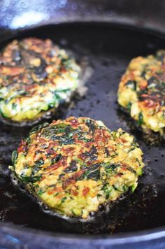 Zucchini, Feta, and Spinach Fritters with Garlic Tzatziki! Great for appetizers or a light snack, and a fantastic way to sneak in some veggies! (sub GF flour). Greek Recipes, Vegetable Recipes, Vegetarian Recipes, Cooking Recipes, Healthy Recipes, Chicken Recipes, Comida Keto, Light Snacks, Spinach And Feta