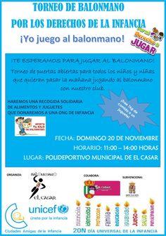 Torneo de puertas abiertas para todos los niños y niñas que quieran pasar la mañana jugando al balonmano en nuestro club.