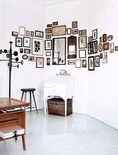 a gallery including mirrors, by heidi lerkenfeldt for elle decoration. / sfgirlbybay