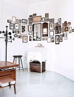 a gallery including mirrors, by heidi lerkenfeldt for elle decoration. / sfgirlbybay