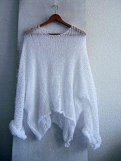 Jersey Nueva colección Crochet Wool, Crochet Blouse, Easy Crochet, Knitting Yarn, Hand Knitting, Girls Sweaters, Sweaters For Women, Estilo Hippie, Bohemian Style Clothing