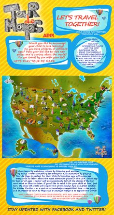 Tour de Maps is a brand new educational app for young and young at heart. Find lots of surprising facts from various fields! Free version available at https://itunes.apple.com/us/app/tour-de-maps/id851821106?l=pl&ls=1&mt=8   See you on Tour de Maps! :)  Jose