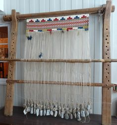 Tapestry weaving at Maihaugen Open-Air Museum in Lillehammer in Oppland County…