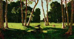 A birch grove, 1879, Arkhip Kuindzhi. #russia #art #drawing #kuindzhi