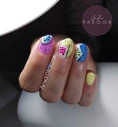 #nails #nails2inspire #nailstoinspire #nailsinspiration #studiopazoor #shortnails #nails2020 #colourfullnails #yellownails #bluenails #pinknails #paznokcie #inspiracjepaznokciowe #krotkiepaznokcie #fruitsnails #fruitsonnails #owocenapaznokciach #nailsbyania Nails, Beauty, Finger Nails, Beleza, Ongles, Nail, Nail Manicure