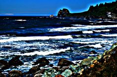 HDR photo of the Pacific coast