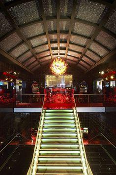 Groningen Holland Casino #nastro #chandelier #andromeda #murano #venice #glass #luxury #light #design #architecture with M+R interior architecture