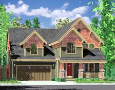Craftsman Home with Open Floor Plan - 8130LB | 2nd Floor Master Suite, Bonus Room, CAD Available, Craftsman, Den-Office-Library-Study, Narrow Lot, Northwest, PDF | Architectural Designs