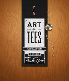 Hang tag Art on Tees