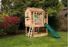 Childrens Playhouse - Little Cedar Playhouse - Outdoor Living Today