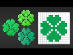 Cute 4 Leaf Clover Perler Bead Pattern for St. Patrick's Day.  Laceys Crafts is all about sharing super simple and adorable crafts for kids. Enjoy!
