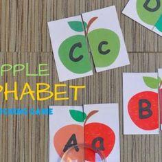 APPLE ALPHABET MATCHING GAME | FREE PRINTABLES
