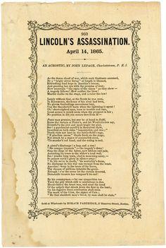 Evil paper abraham lincoln assassination essay