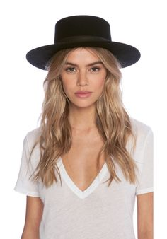 7efb116d2986a Janessa Leone Gabrielle Hat in Black