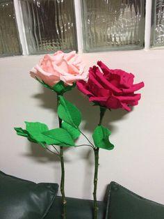 óriás papír rózsák