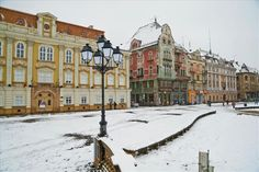Winter in Unirii Square,Timișoara Visit Romania, Medieval Castle, Over The Years, Winter, Landscape, City, Travel, Outdoor, Beautiful