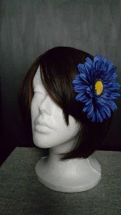 Flower hair clip blueGerber Daisey hair pin Hair