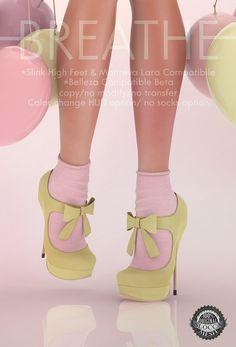 8296eb07622ae SL Inventory · 100% Original Mesh & Textures 12 color options for Bow &  Socks via HUD No
