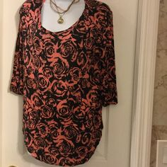 Rue 21  tops Black pink design roses ,very soft material. Rue 21 Tops Blouses