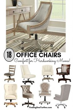 18 Modern Farmhouse Office Chairs for Your Workspace - Finding Sea Turtles Farmhouse Office Chairs, Home Office Chairs, Home Office Space, Farmhouse Furniture, Home Office Design, Home Office Decor, Office Workspace, Farmhouse Homes, Modern Farmhouse