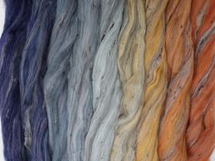 Forest Floor Gradient Pack of blended wool tops. This gradient has been created to make a seamless transition from one colour to the next. Seamless Transition, Different Light, Main Colors, Hydrangea, Spinning, Fiber, Hand Spinning, Hydrangea Tree, Indoor Cycling