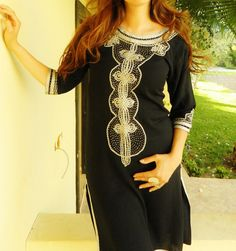 Black Long tunic Bedouin Styleperfect for by MaisonMarrakech, $82.99