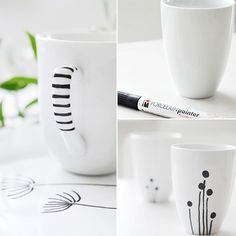 With just one porcelain pen you can transform a whole dinner service, add quirky touches to ceramics, or just have fun creating unique gifts for family and friends. A porcelain pen is easy to use to draw freehand designs - or get ideas off the Internet - and permanently apply to ceramic and porcelain.  - See more at: http://www.home-dzine.co.za/crafts/craft-porcelain-pen.htm#sthash.1sUME8XZ.dpuf