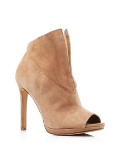 VINCE CAMUTO Rora Peep Toe High Heel Booties | Bloomingdale's