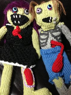 knitted zombies, by Amber Dorko Stopper of voluptuosstoicism.com