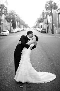 A classic black  white Charleston wedding: http://www.stylemepretty.com/2014/06/04/classic-black-white-charleston-wedding/ | Photography: http://andrewcebulka.com/    Beautiful dress!
